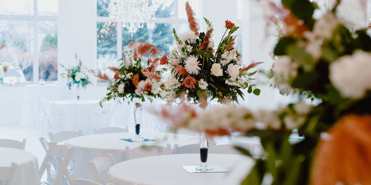 Floral with tables landscape